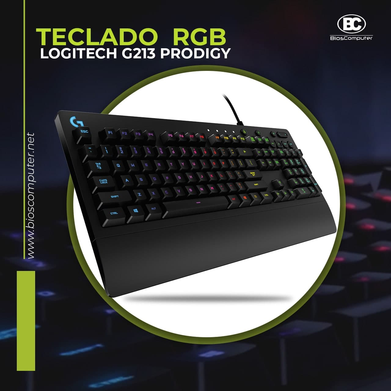 Teclado RGB Logitech G213